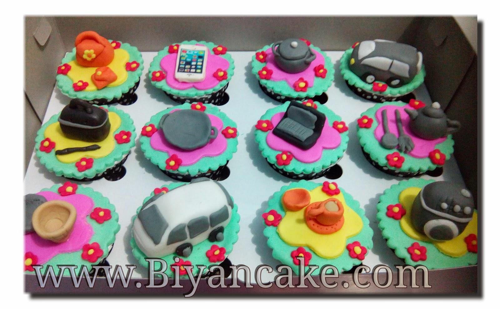 Cup cake 3 Dimensi  Biyan Cake