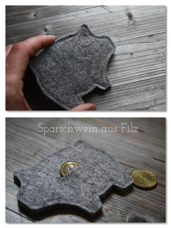 DIY Sparschein WollFilz selber nähen