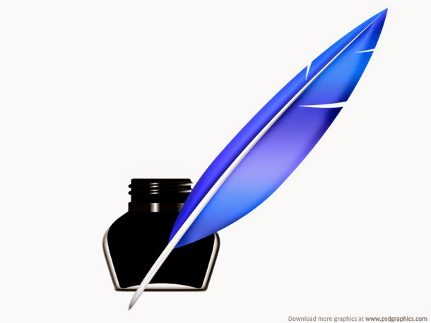 Quill Pen and Inkwell Icon PSD