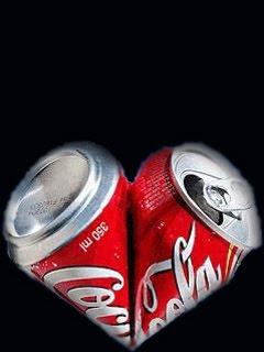 Srce od Coca-Cola limenke download besplatne pozadine slike za mobitele
