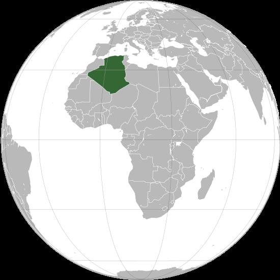 Globo Terráqueo Argelia