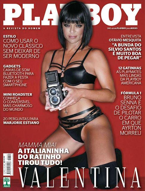 Confira as fotos da Italiana do Ratinho, Valentina Francavilla, capa da Playboy de março de 2012!