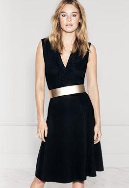 vestido fiesta negro H&M primavera verano 2014
