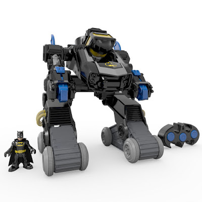 TOYS : JUGUETES - Fisher-Price  Imaginext : DC Super Friends  Batman - Robot Transformable RC Radiocontrol | Batbot  Producto Oficial 2015 | Mattel | Edad: 3-8 años  Comprar en Amazon España & buy Amazon USA