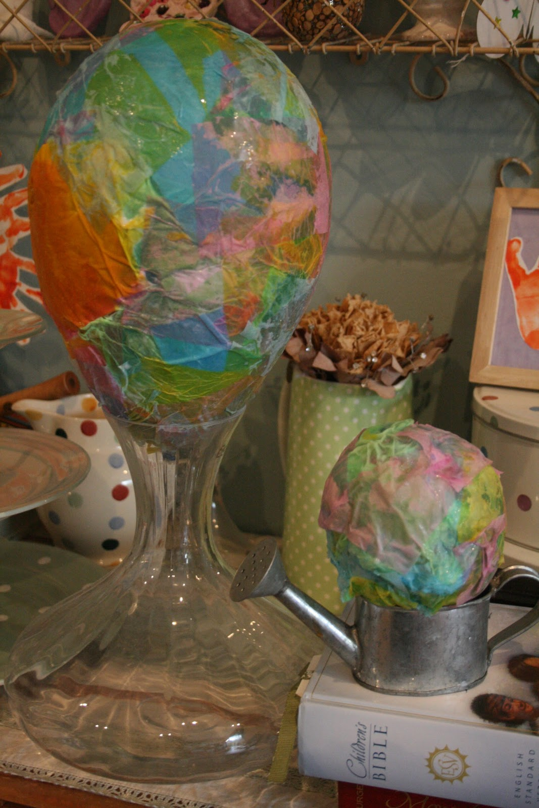 Paper mache easter egg the imagination tree for Things to make with paper mache
