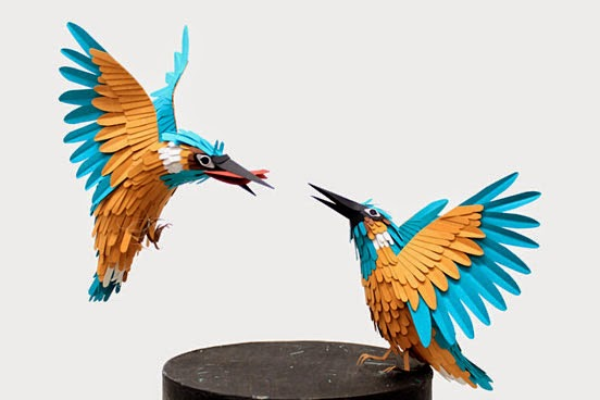 Diana Beltran Herrera, paper birds, kağıttan kuşlar