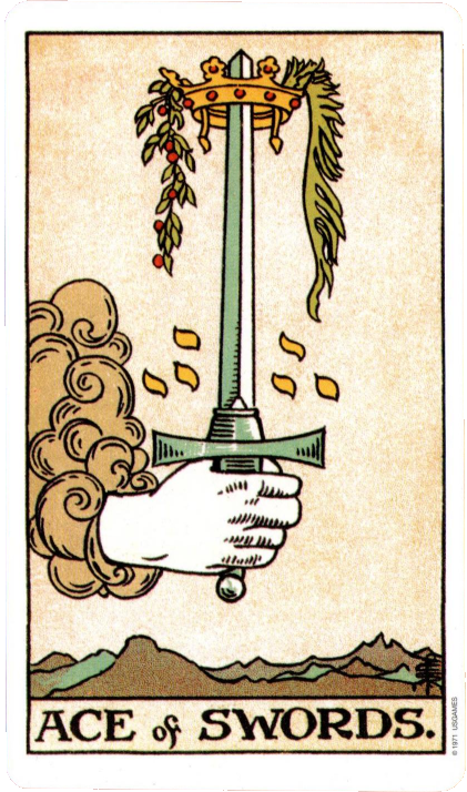 Original Rider Waite Tarot  Ace of Swords
