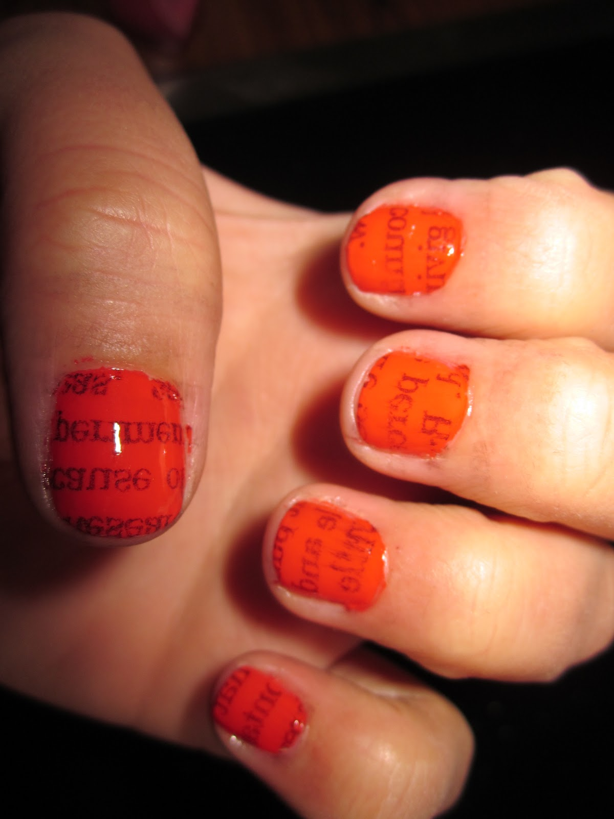 Mindy\'s Beauty Tips for 2011: Fun Spring Nails! News Paper Print!