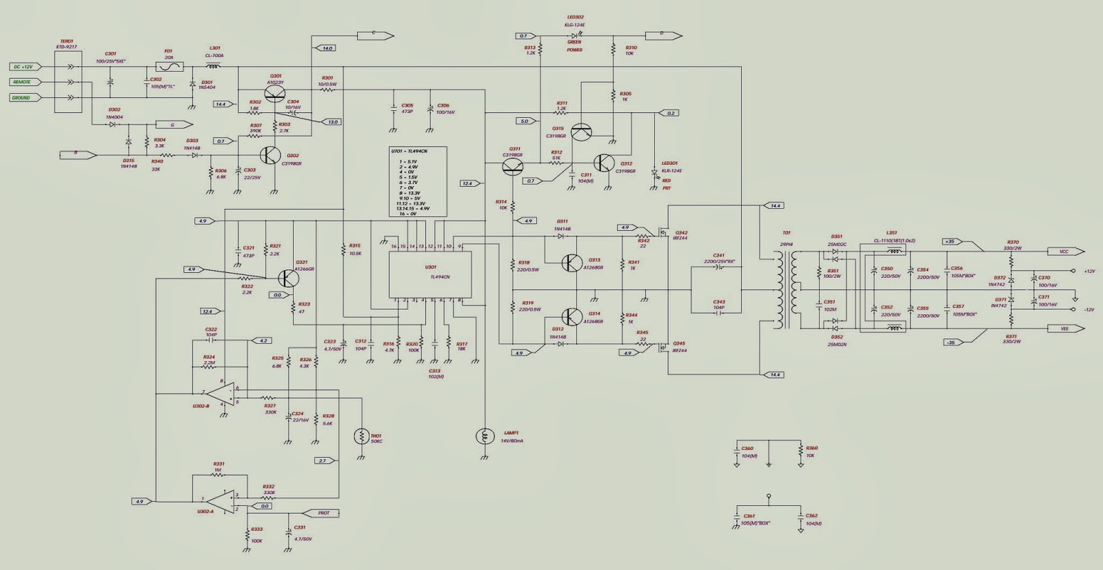 Jbl Bp1501 1 Channel Power Amplifier Schematic Circuit Diagram 1channel Amp Wiring
