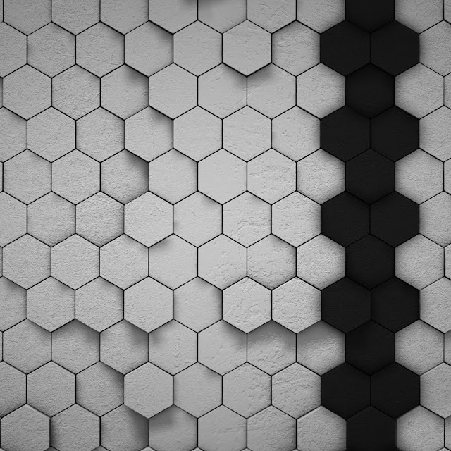 iPad Wallpaper - Hexagons 3D