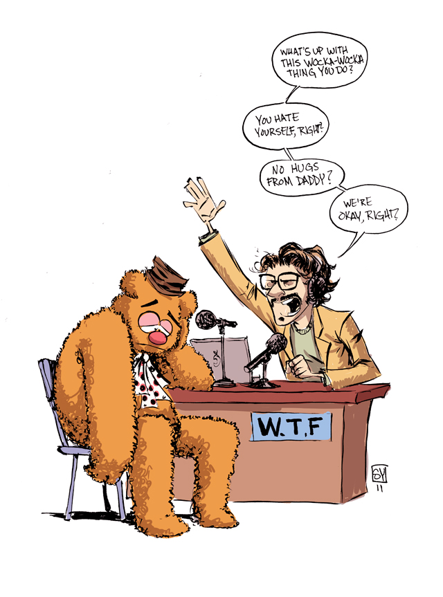 Fozzie Bear on WTF with Marc Maron by Skottie Young
