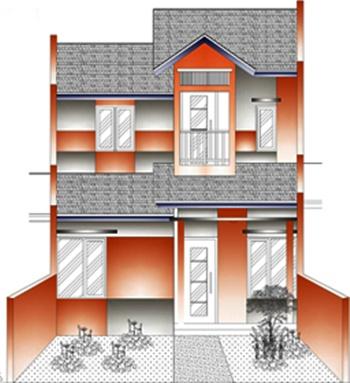 contoh desain rumah minimalis 2 lantai desain rumah