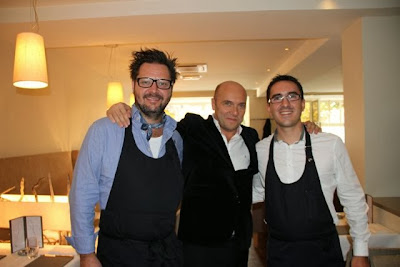 Chef Rikard Hult, Esteban Capdevila y Guillaume Roubet