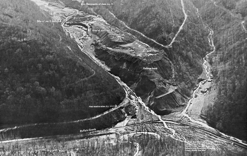 buffalo creek disaster Overview the dispute was resolved by three settlements the first suit was brought by 625 victims and was settled in june 1972, costing pittston coal company $135 million.