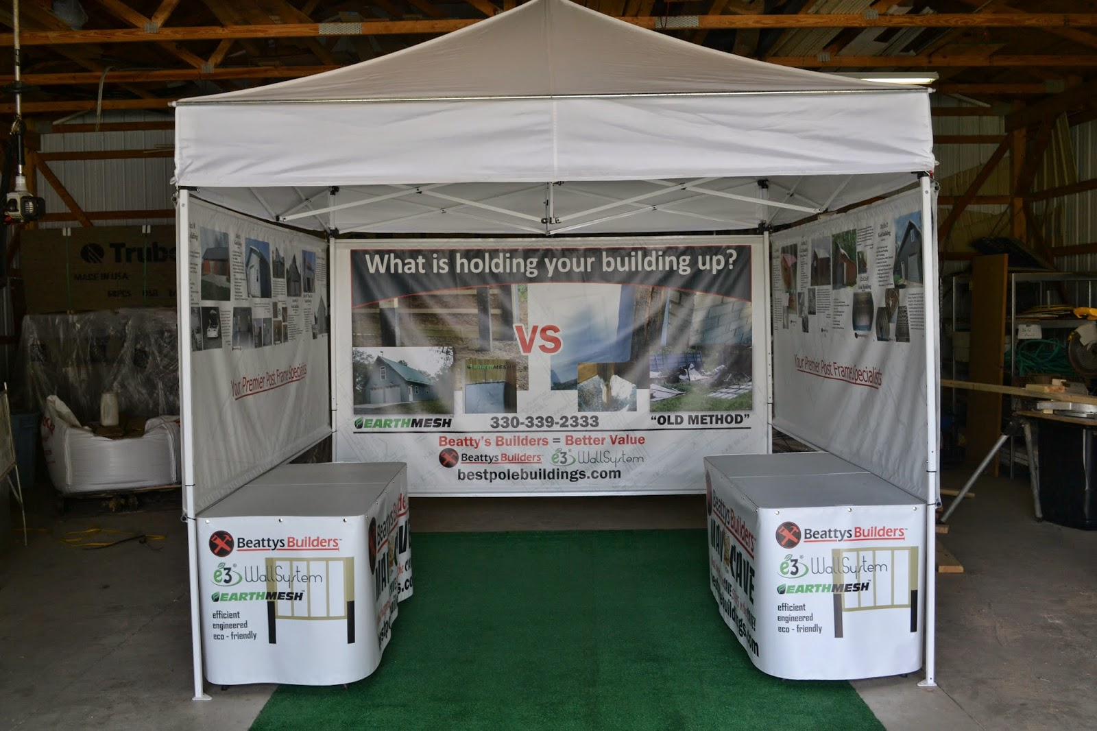Beattys Builders Trade Show Display | Banners.com