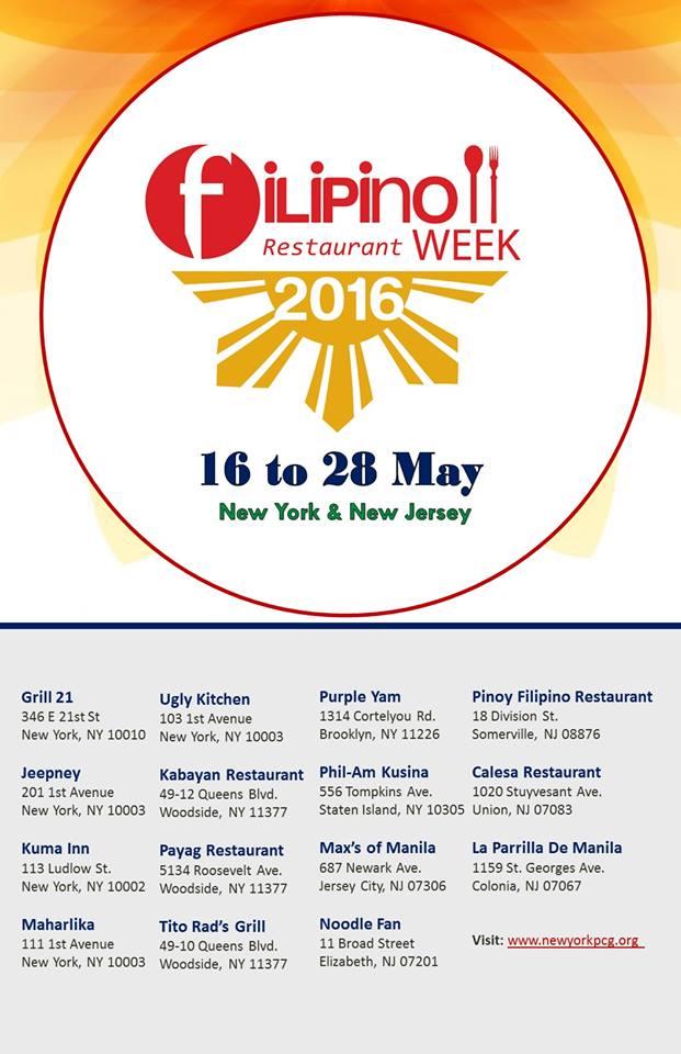 Philippine Restaurant Week Nyc