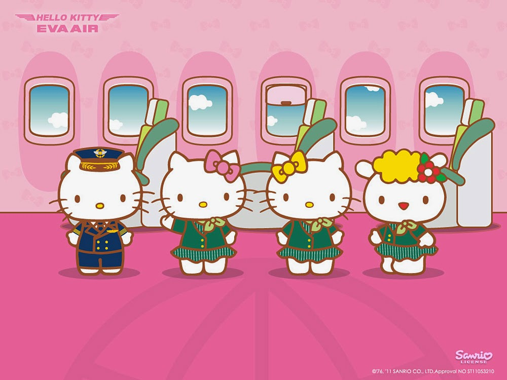 EVA Air Hello Kitty Jet Wallpaper