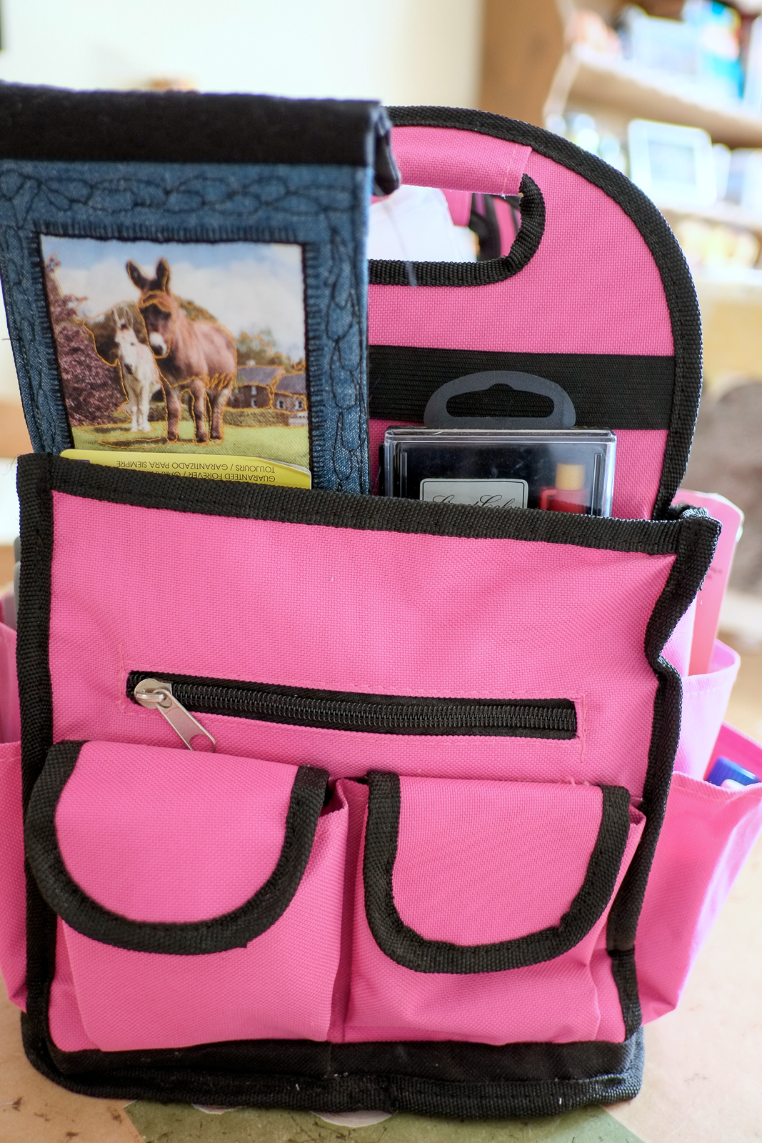 Hobby lobby craft bags - Suzanne Made Me The Donkey Wallet Where I Keep My Hand Sewing Needles And I Keep Some Of My Perle And Embroidery Thread In This Cigar Case