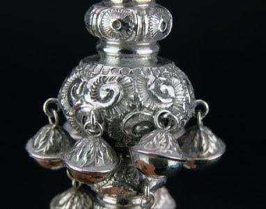 ANTIQUE 19thC VICTORIAN SOLID SILVER BABY RATTLE & WHISTLE, BIRMINGHAM c.1876