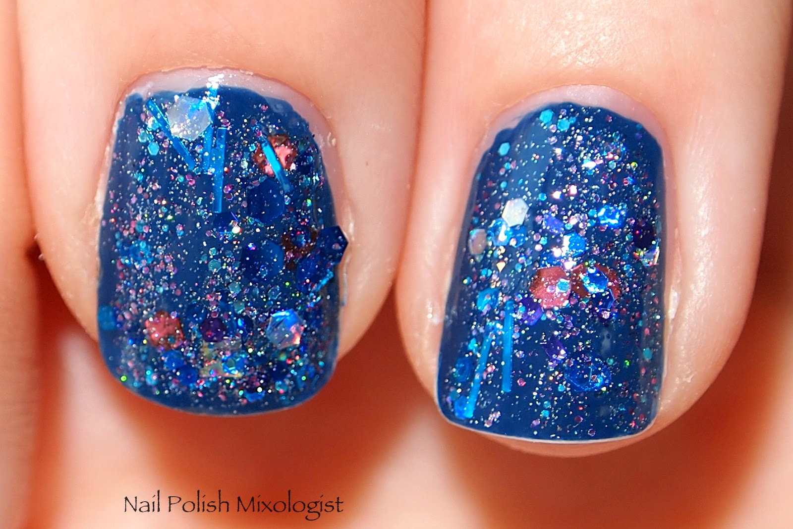 how to make chunky glitter nail polish