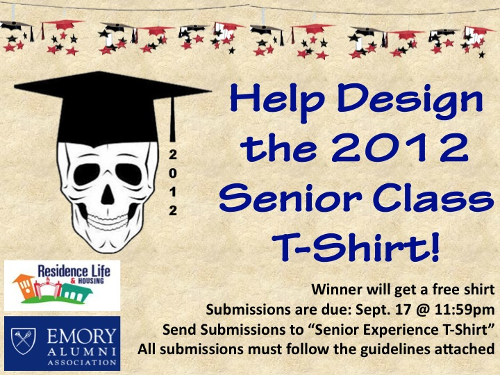 Senior experience 2012 for T shirt design contest flyer