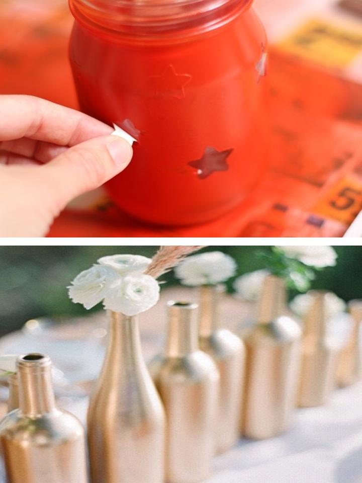 Uma Linda Promessa Ideias de decoraç u00e3o com garrafa de vidro para casamento Parte 1 # Decoracao Com Tampa De Vidro
