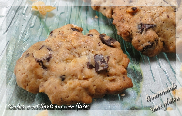 Cookies croustillants au chocolat et corn flakes
