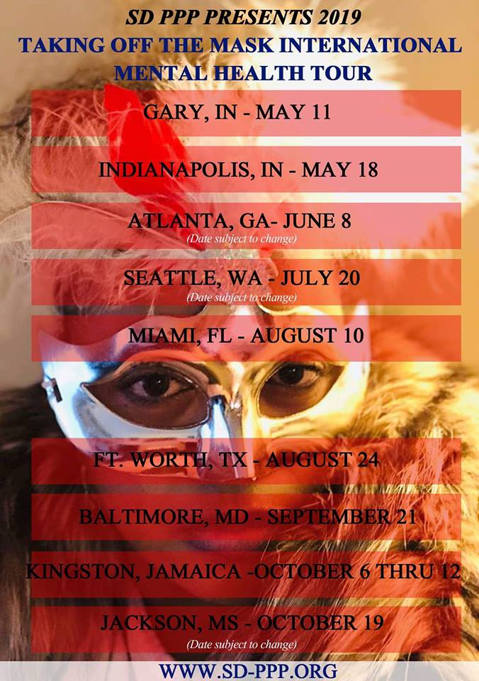 2019 Taking Off The Mask International Mental Health Tour