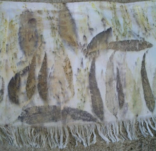 saia de algodão estampada artesanalmente