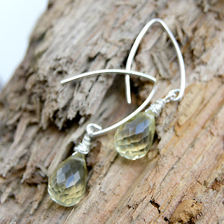 sterling silver yellow topaz earrings