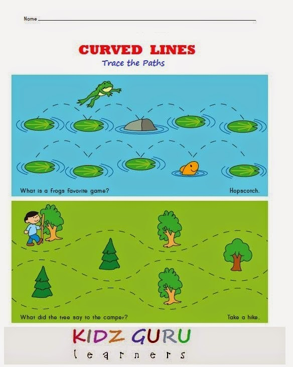 Kindergarten Worksheets: Tracing Worksheets - PreWriting Worksheets ...