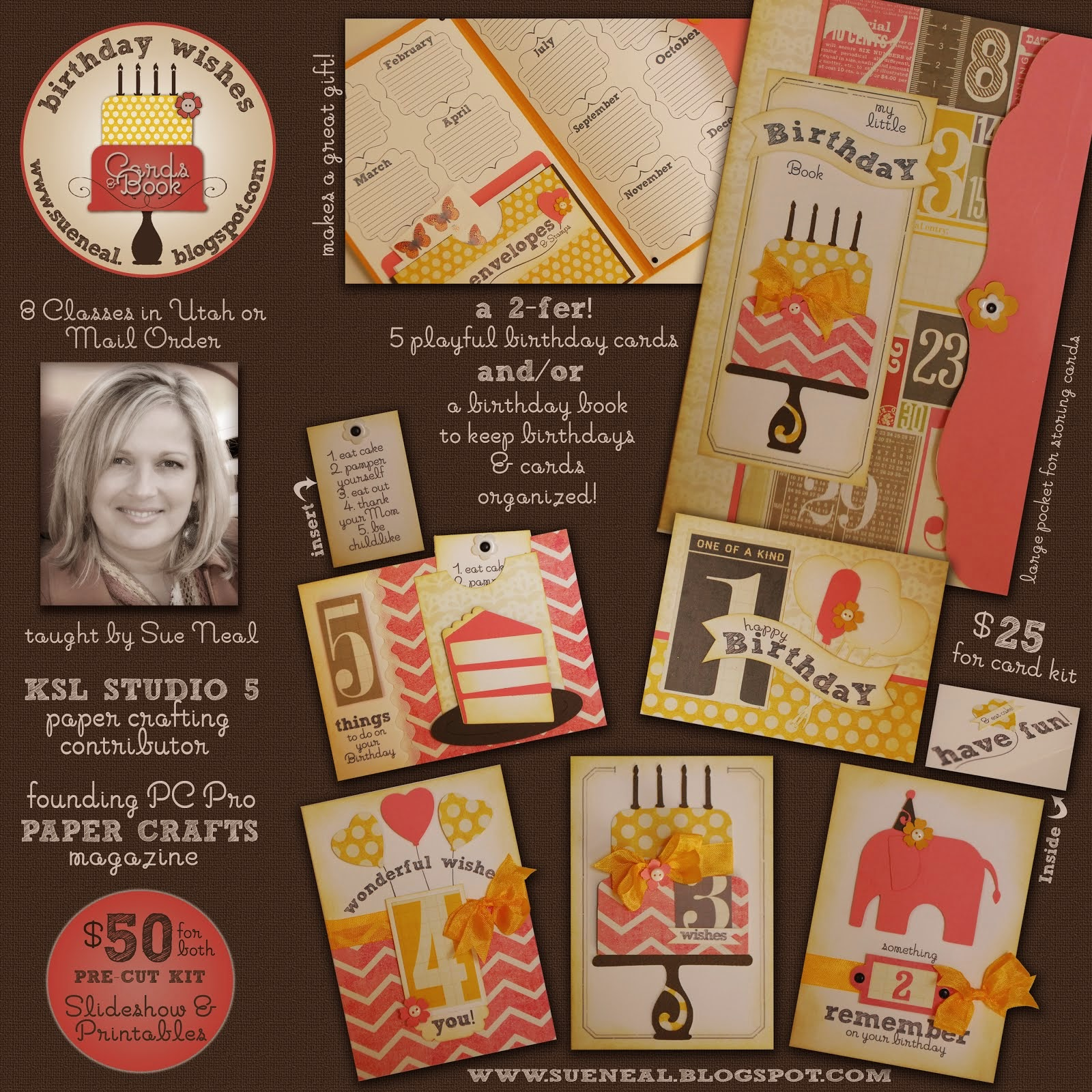January Class: Birthday Wishes Cards & Book