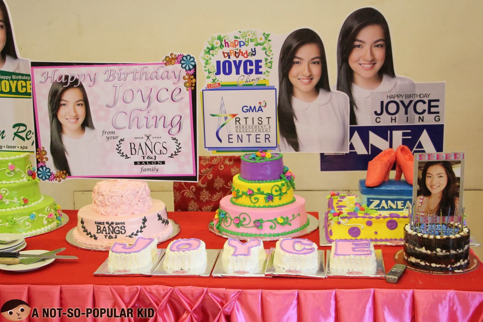 The Birthday Cakes all for Joyce Ching's 19th Birthday