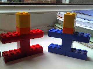 Jedward made of Lego