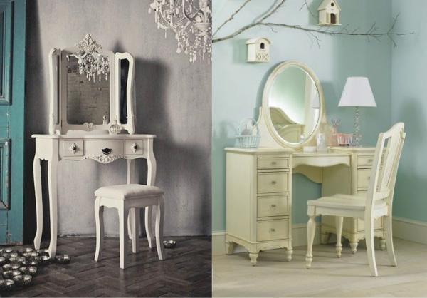 penteadeiras clássicas - vintage - dressing table - romantico - antigo - retrô - feminino- quarto - bancada - cantinho de maquiagem - rosa