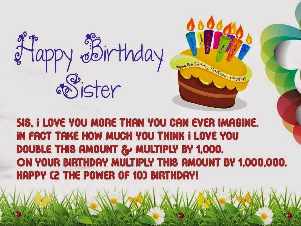 Happy birthday sister best happy birthday sister greetings photo best happy birthday sister greetings photo m4hsunfo