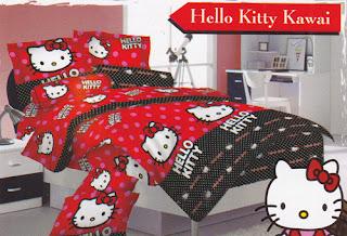Sprei Love Story Hello Kitty Kawai