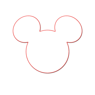 mickey mouse head shape template - minnie mouse head template joy studio design gallery