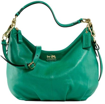 coach purses discount outlets yfrt  COACH MADISON CONVERTIBLE LEATHER HOBO BAG