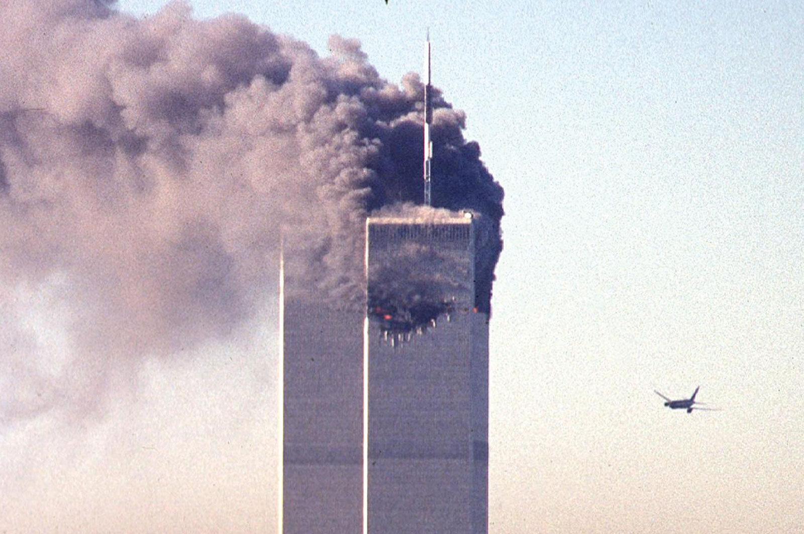 Airplane crashes to the world trade center new york 11 sept 2001
