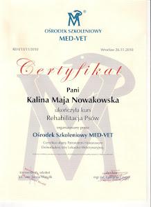 Certyfikat rehabilitacja