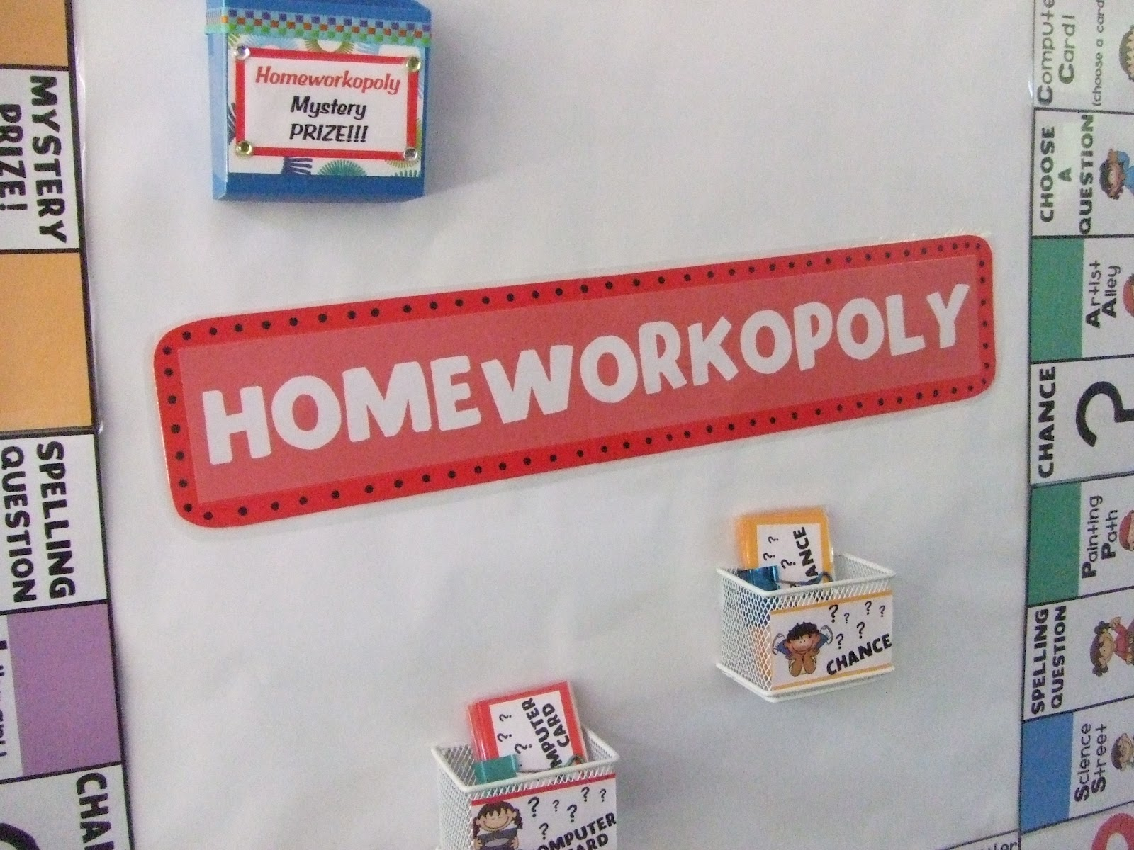 Timeouts and Tootsie Rolls  Homeworkopoly Teacher s Notebook