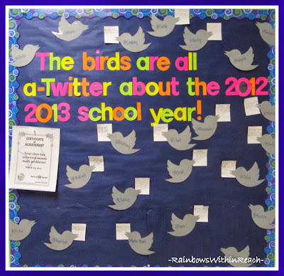 Twitter Themed Bulletin Board via RainbowsWithinReach