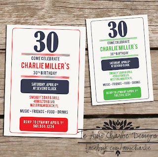 Mens party Invitations