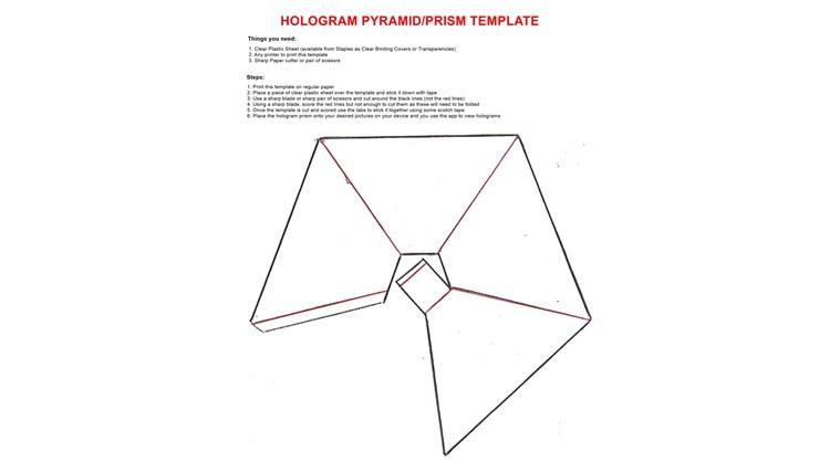 Голографические пирамиды своими руками