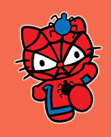 Hello Kitty in Spiderman costume