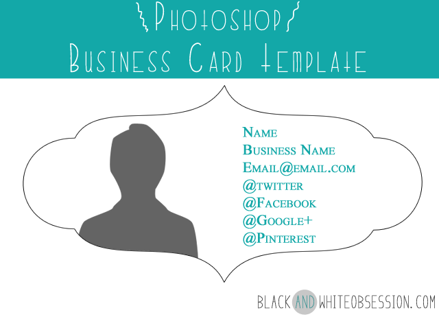 Black And White Obsession Silhouette Cameo Tutorial Dual Sided - Double sided business card template photoshop