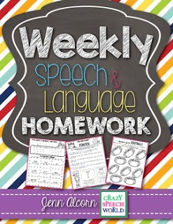 https://www.teacherspayteachers.com/Product/Weekly-Speech-Therapy-Homework-1987202