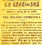 UNA PALABRA PATRIOTICA (1896)