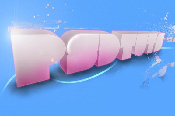 psd tuts 30 Striking 3D Text in Photoshop Tutorials